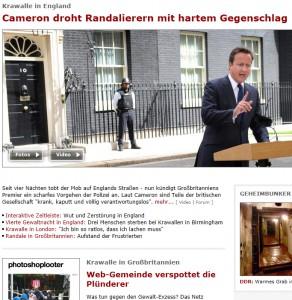 SPIEGEL Online, 10.8.11; Quelle Foto/Screenshot: AP/PA + SPON