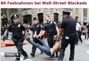 SPON-Artikel zu Protesten gegen die Wallstreet; Foto: AP