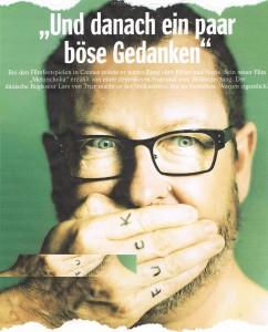 Gespräch mit Lars von Trier, SPIEGEL 26/2011, S. 128 - 132; Foto: Mads Nissen/Panos Pictures/LAIF/DER SPIEGEL
