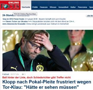 """... berichtet z.B. Focus.de längst vom """"Tor-Klau""""; Foto: Reuters"""